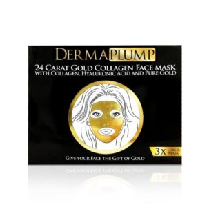 DermaPlump 24 Carat Gold Luxury Collagen Facemask (3 x Masks)
