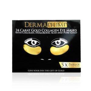 Dermaplump 24 Carat Gold Luxury Eye Masks (5 x Masks)