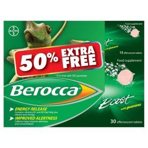 Berocca Boost Tablets Effervescent 30