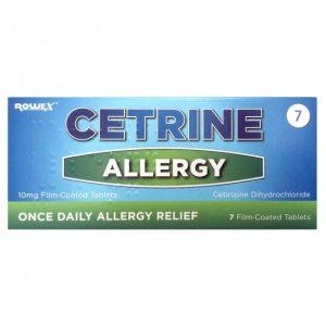 Cetrine Allergy Tablets 7's