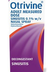Otrivine Sinusitis Adult Measured Dose 0.1% Nasal Spray 10ml