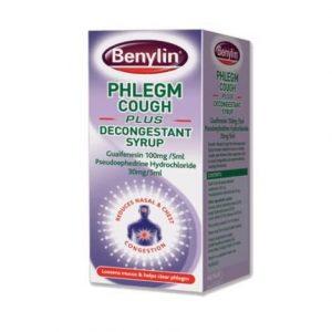 Benylin Phlegm Cough Plus Decongestant Syrup 100ml