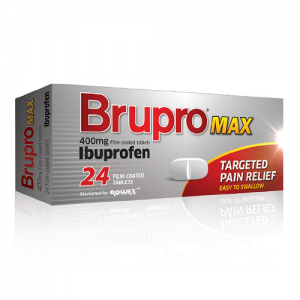 Brupro Max 400mg Iburprofen 24 Tablets