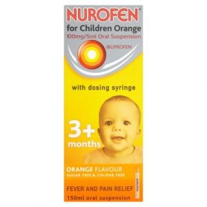 Nurofen For Children Orange With Dosing Syringe 150ml