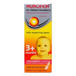 Nurofen For Children Strawberry With Spoon 200ml