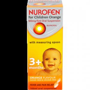 Nurofen For Children Orange Flavour With Spoon 100ml
