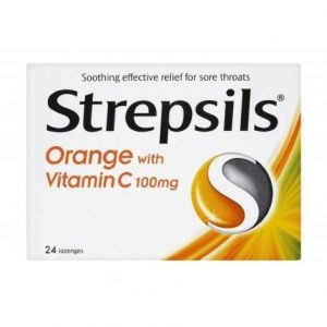 Strepsils Lozenges Orange & Vitamin C 24