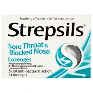 Strepsils Lozenges Sore Throat & Blocked Nose – 24