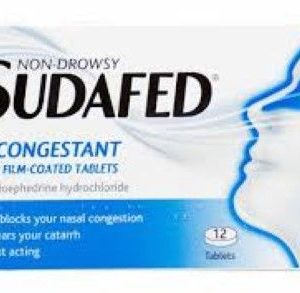 Sudafed Non-Drowsy Decongestant – 12 Tablets