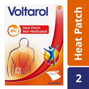 Voltarol Pain Relief Heat Patches Non Medicated x2