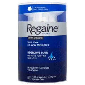 Regaine For Men Extra Strength Foam (3 x 60g)
