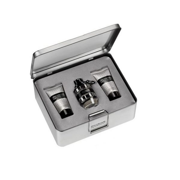 VIKTOR & ROLF SPICEBOMB EAU DE TOILETTE MEN'S AFTERSHAVE GIFT SET SPRAY (50ML) WITH AFTERSHAVE BALM AND SHAVING CREAM