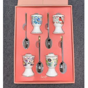 tipperary crystal 4 piece egg cup & spoon set
