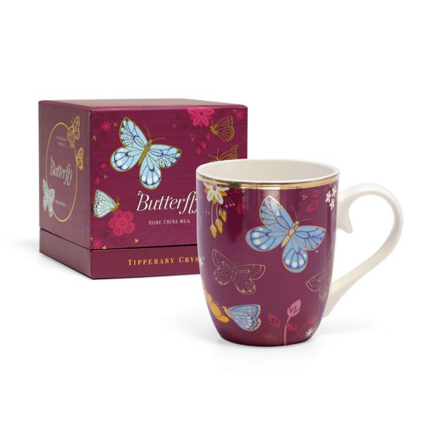 Tipperary Crystal butterfly mugs-the common blue