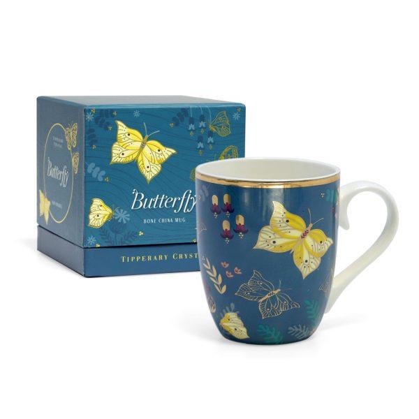 Tipperary Crystal Butterfly Mug the Brimstone