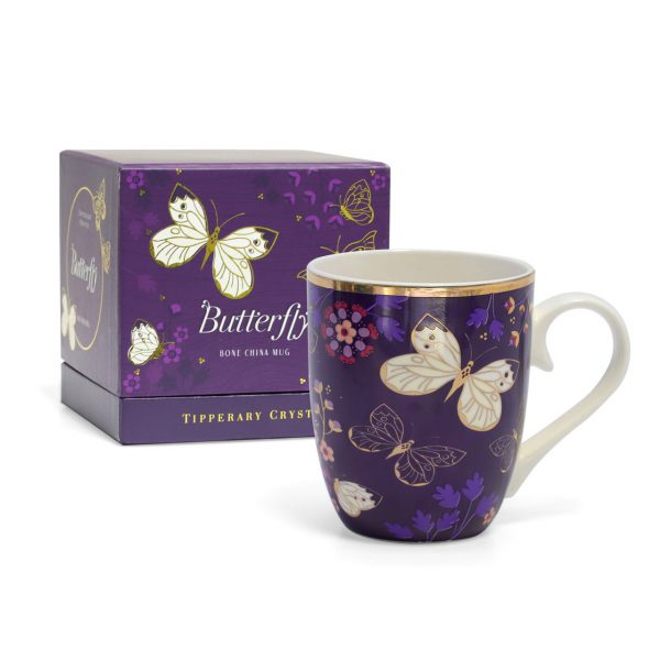 Tipperary Crystal Butterfly Mug The Cabbage White