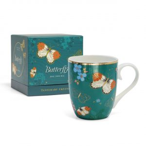 Tipperary Crystal Butterfly Mug- The Orange Tip
