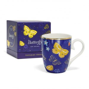 Tipperary Crystal butterfly mug-The Clouded Yellow