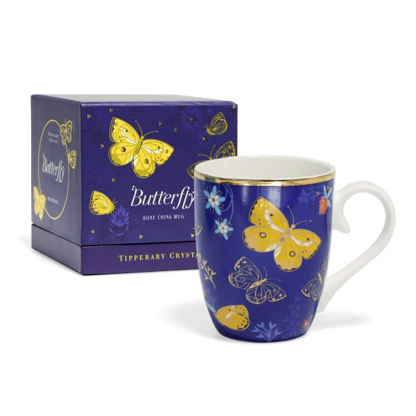 Tipperary Crystal butterfly mugs clouded yellow