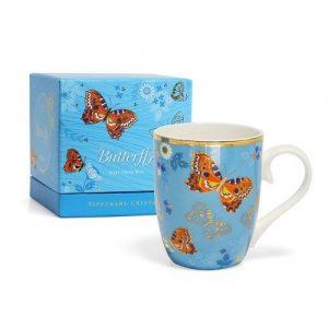 Tipperary Crystal Butterfly Mug -The small tortoiseshell
