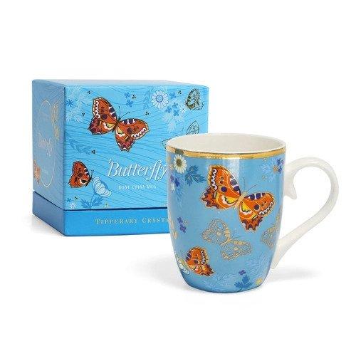 Tipperary crystal butterfly mug - small tortoiseshell